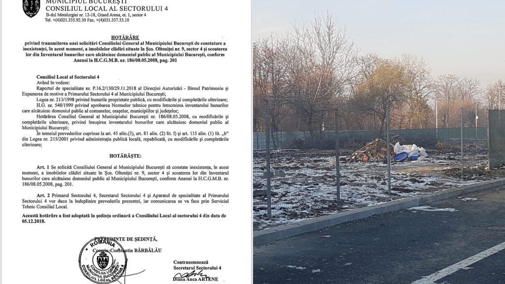 Primarul sectorului 4 demolează clădiri publice noaptea și ziua spune că s-au topit singure