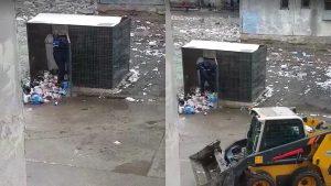 În sectorul 5 se ridică gunoiul ca-n Evul Mediu