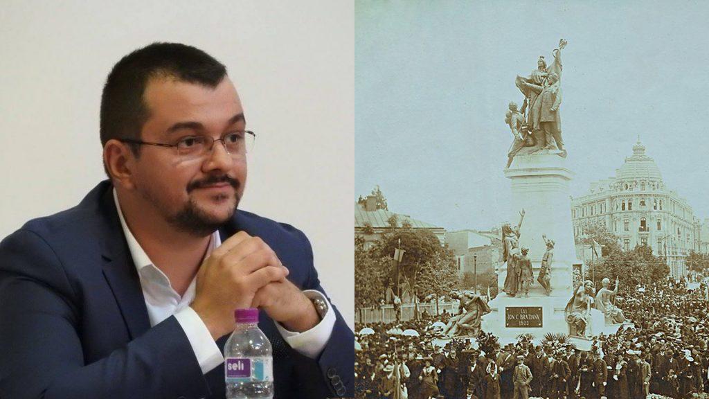 Cristian Olteanu, unul dintre artizanii reconstrucției monumentului Brătianu