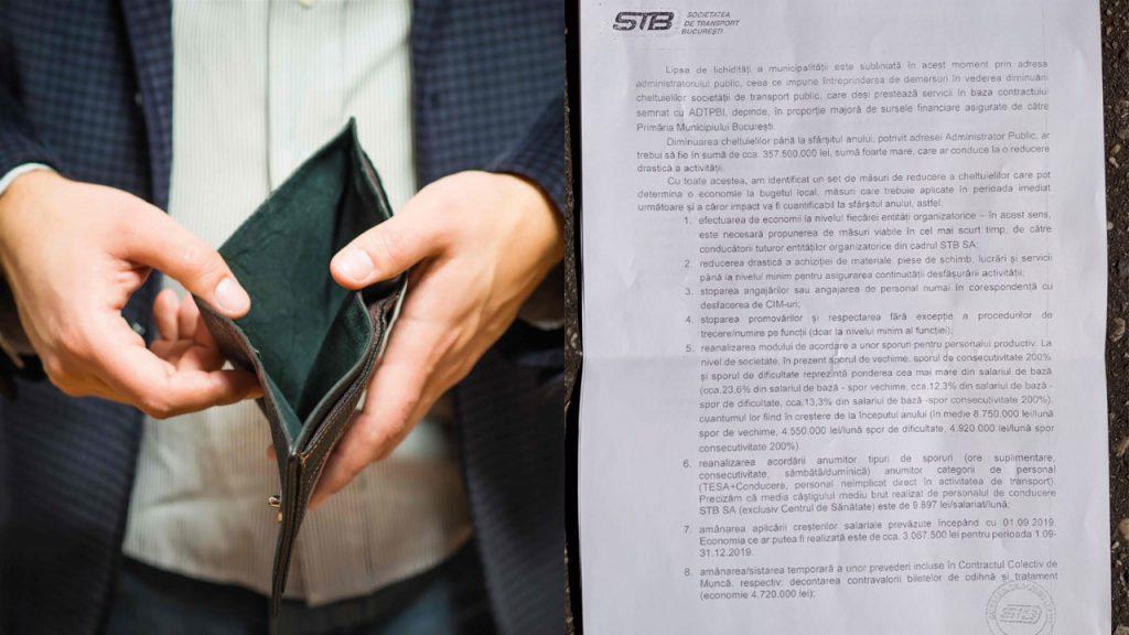 Bucureștiul în faliment. Este oficial, la STB nu mai sunt bani de salarii!